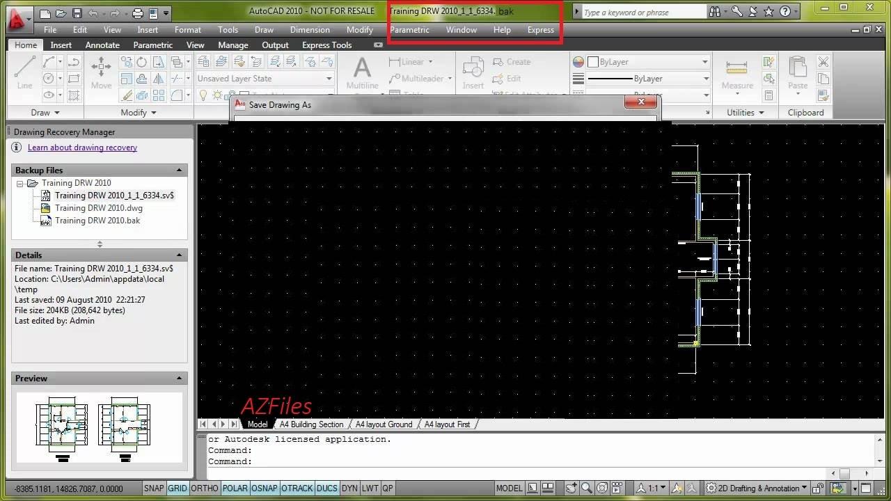 Формат bak в AutoCAD