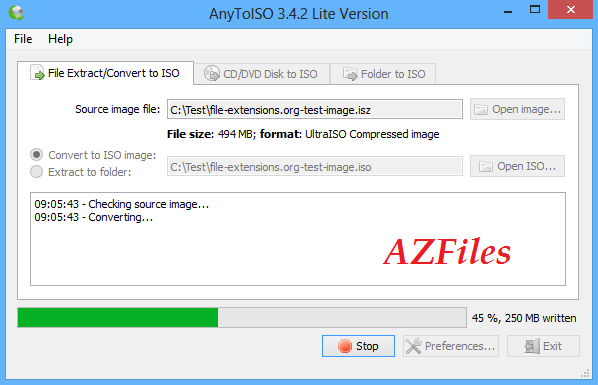 Файл isz в AnyTolSO