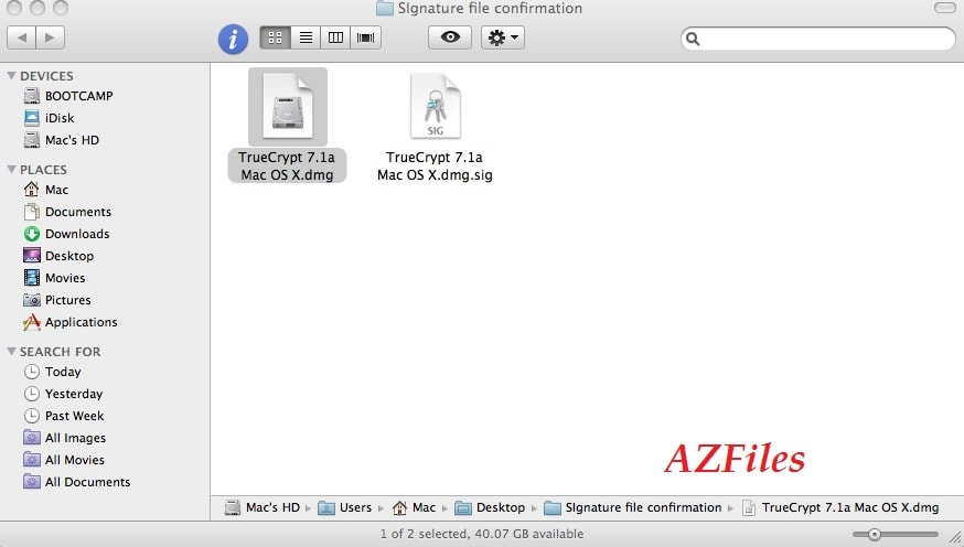 Расширение sig в Mac